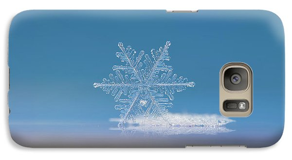 Galaxy Case featuring the photograph Snowflake Photo - Cloud Number Nine by Alexey Kljatov