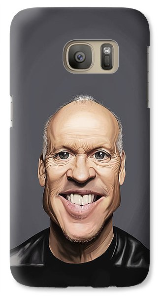 Galaxy Case featuring the drawing Celebrity Sunday - Michael Keaton by Rob Snow