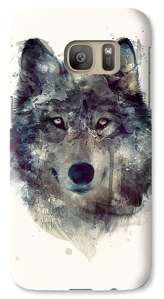 Wolf // Persevere Galaxy S7 Case by Amy Hamilton