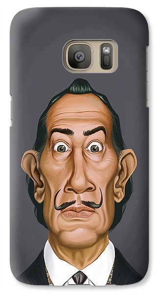 Galaxy Case featuring the drawing Celebrity Sunday - Salvador Dali by Rob Snow