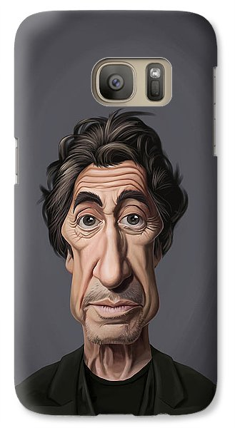 Galaxy Case featuring the drawing Celebrity Sunday - Al Pacino by Rob Snow