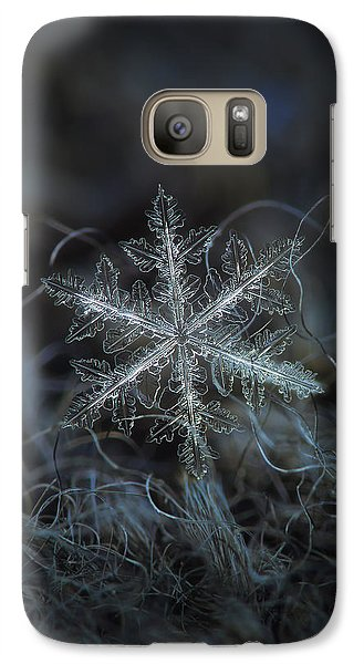 Galaxy Case featuring the photograph Leaves Of Ice by Alexey Kljatov