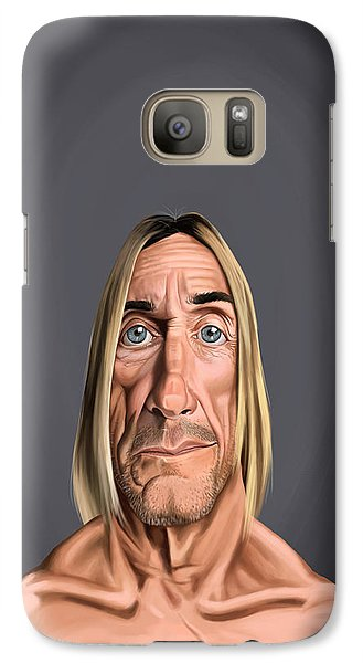 Galaxy Case featuring the drawing Celebrity Sunday - Iggy Pop by Rob Snow