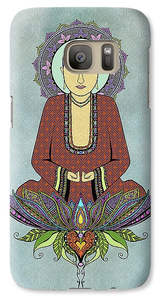 Galaxy Case featuring the drawing Electric Buddha by Tammy Wetzel