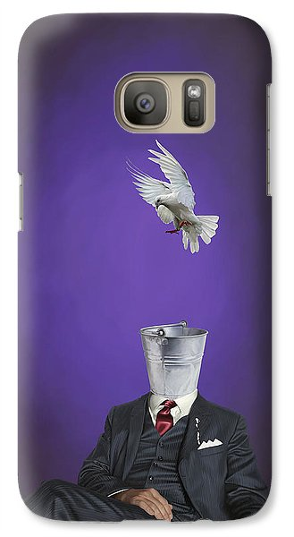 Galaxy Case featuring the drawing Capture by Rob Snow