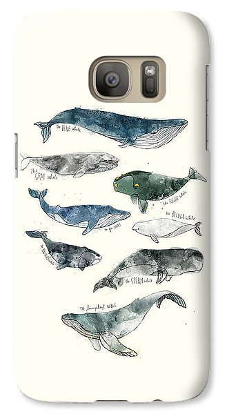 Whales Galaxy Case by Amy Hamilton