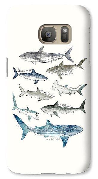 Sharks Galaxy S7 Case by Amy Hamilton