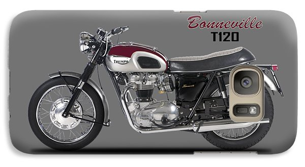 Transportation Galaxy S7 Case - Triumph Bonneville T120 1968 by Mark Rogan