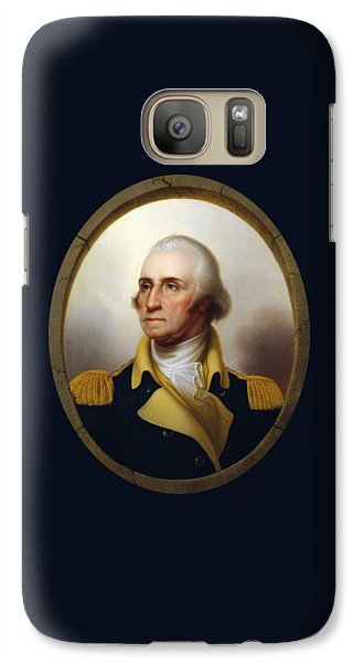 General Washington - Porthole Portrait  Galaxy S7 Case by War Is Hell Store