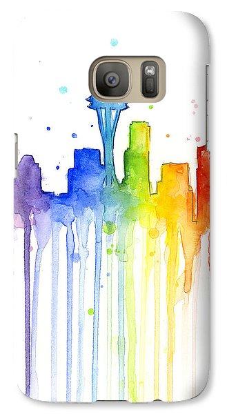 Seattle Rainbow Watercolor Galaxy S7 Case