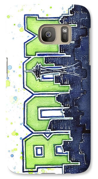 Seattle 12th Man Legion Of Boom Painting Galaxy S7 Case by Olga Shvartsur