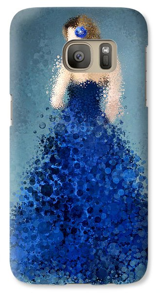 Galaxy Case featuring the digital art Angelica by Nancy Levan