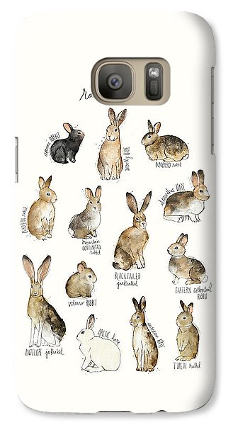 Rabbits And Hares Galaxy Case by Amy Hamilton