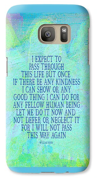 Galaxy Case featuring the painting Any Good Thing by Lisa Weedn