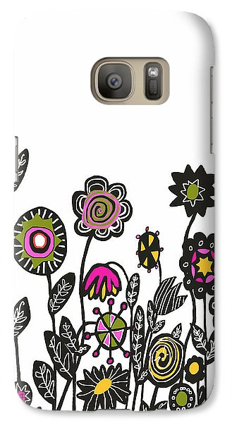 Galaxy Case featuring the painting Hippie Garden by Lisa Weedn