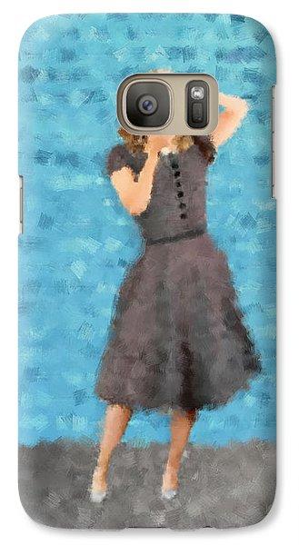 Galaxy Case featuring the digital art Natalie by Nancy Levan