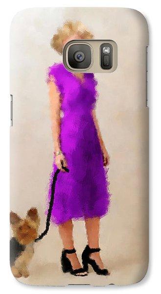 Galaxy Case featuring the digital art Christina by Nancy Levan