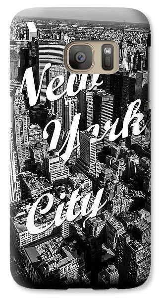 Great White Shark Galaxy S7 Case - New York City by Nicklas Gustafsson
