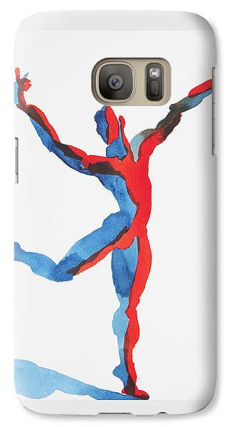 Galaxy Case featuring the painting Ballet Dancer 3 Gesturing by Shungaboy X