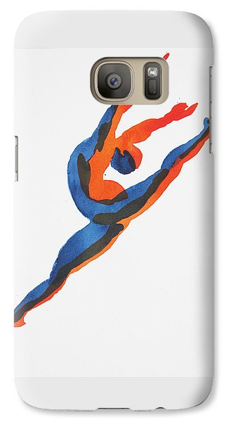 Galaxy Case featuring the painting Ballet Dancer 2 Leaping by Shungaboy X