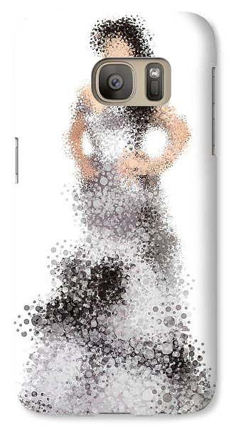 Galaxy Case featuring the digital art Collette by Nancy Levan