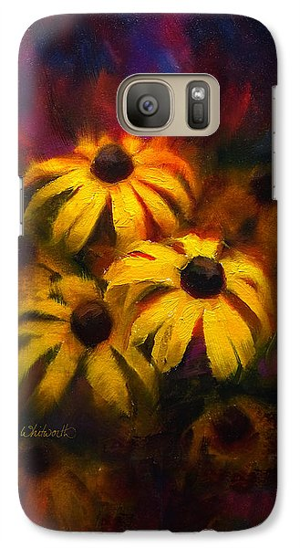 Galaxy Case featuring the painting Black Eyed Susans - Vibrant Flowers by Karen Whitworth