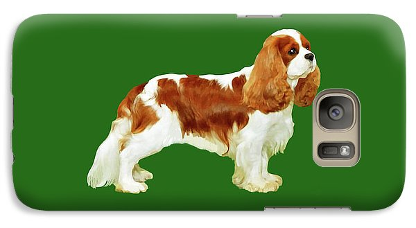 Galaxy Case featuring the painting Cavalier King Charles Spaniel by Marian Cates