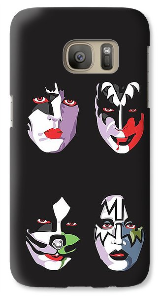 Music Galaxy S7 Case - Kiss by Troy Arthur Graphics
