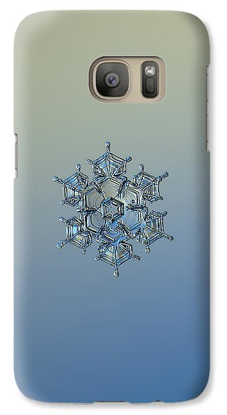 Galaxy Case featuring the photograph Snowflake Photo - Flying Castle Alternate by Alexey Kljatov