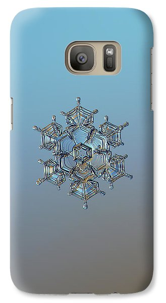 Galaxy Case featuring the photograph Snowflake Photo - Flying Castle by Alexey Kljatov