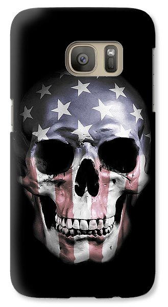 Galaxy Case featuring the digital art American Skull by Nicklas Gustafsson