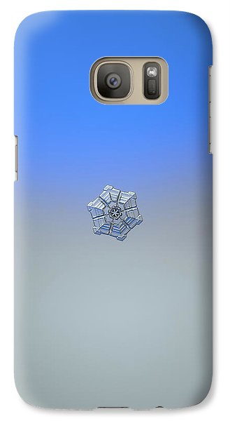 Galaxy Case featuring the photograph Snowflake Photo - Winter Fortress by Alexey Kljatov