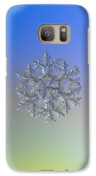 Galaxy Case featuring the photograph Snowflake Photo - Gardener's Dream Alternate by Alexey Kljatov
