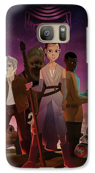 Galaxy Case featuring the drawing the Awakening by Nelson Dedos Garcia