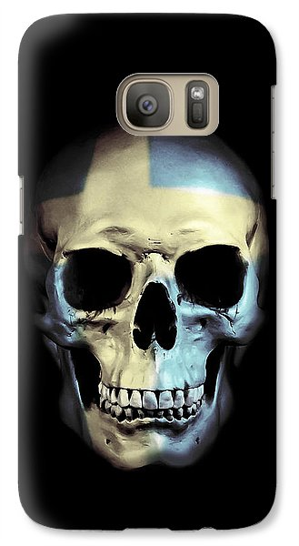 Galaxy Case featuring the digital art Swedish Skull by Nicklas Gustafsson