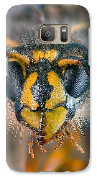 Galaxy Case featuring the photograph Wasp Portrait by Alexey Kljatov