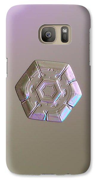 Galaxy Case featuring the photograph Snowflake Photo - Frozen Hearts by Alexey Kljatov