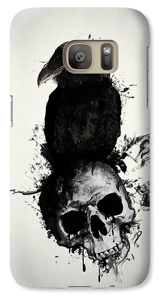 Raven Galaxy S7 Case - Raven And Skull by Nicklas Gustafsson