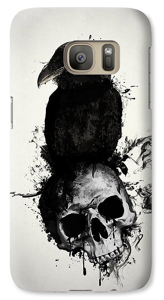 Raven And Skull Galaxy S7 Case by Nicklas Gustafsson