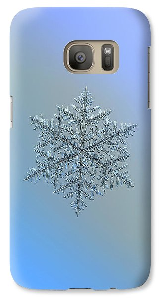 Galaxy Case featuring the photograph Snowflake Photo - Majestic Crystal by Alexey Kljatov