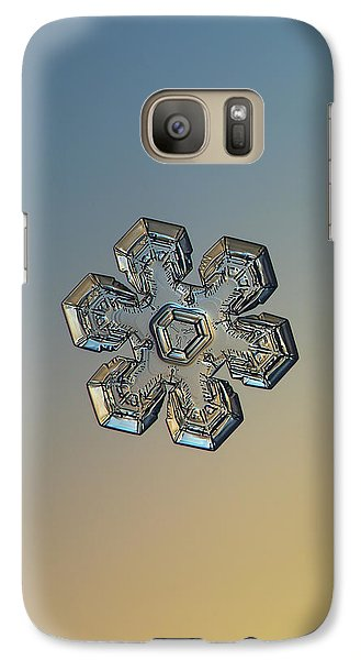 Galaxy Case featuring the photograph Snowflake Photo - Massive Gold by Alexey Kljatov