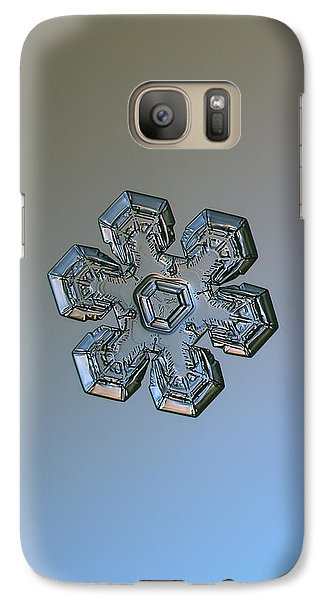 Galaxy Case featuring the photograph Snowflake Photo - Massive Silver by Alexey Kljatov