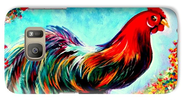 Galaxy Case featuring the painting Rooster/gallito by Yolanda Rodriguez