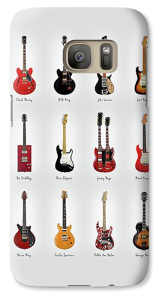 Rock And Roll Galaxy S7 Case - Guitar Icons No1 by Mark Rogan