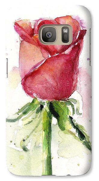 Rose Watercolor Galaxy S7 Case