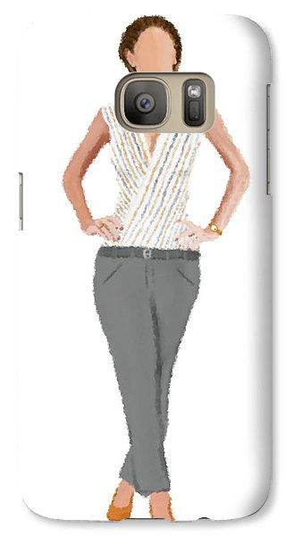 Galaxy Case featuring the digital art Alex by Nancy Levan