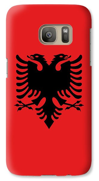 Galaxy Case featuring the digital art Flag Of Albania Authentic Version by Bruce Stanfield