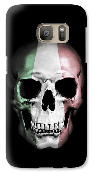 Galaxy Case featuring the digital art Italian Skull by Nicklas Gustafsson