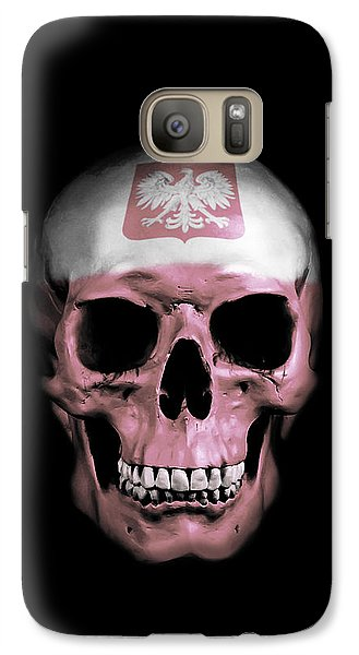 Galaxy Case featuring the digital art Polish Skull by Nicklas Gustafsson