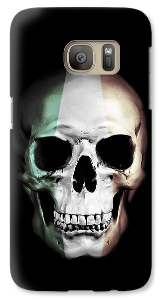 Galaxy Case featuring the digital art Irish Skull by Nicklas Gustafsson
